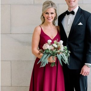 Hayley Paige occasions Style 5815 in burgundy